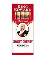 King Edward Wood Tip Cigars Cherry Cigarettes pack