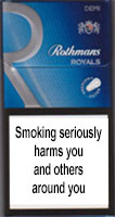 Rothmans Demi Royals Silver Cigarettes pack