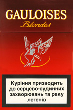 Gauloises Red (Lights) Cigarettes pack