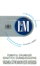L&M Super Lights (Silver Label) Cigarettes pack