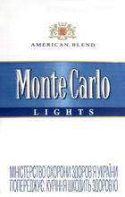 Monte Carlo Lights (Balanced Blue) Cigarettes pack