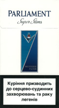 Parliament Super Slims 100`s Cigarettes pack