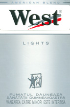 West Stream Tec Lights (Silver) Cigarettes pack