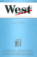 West Ultra Cigarettes pack
